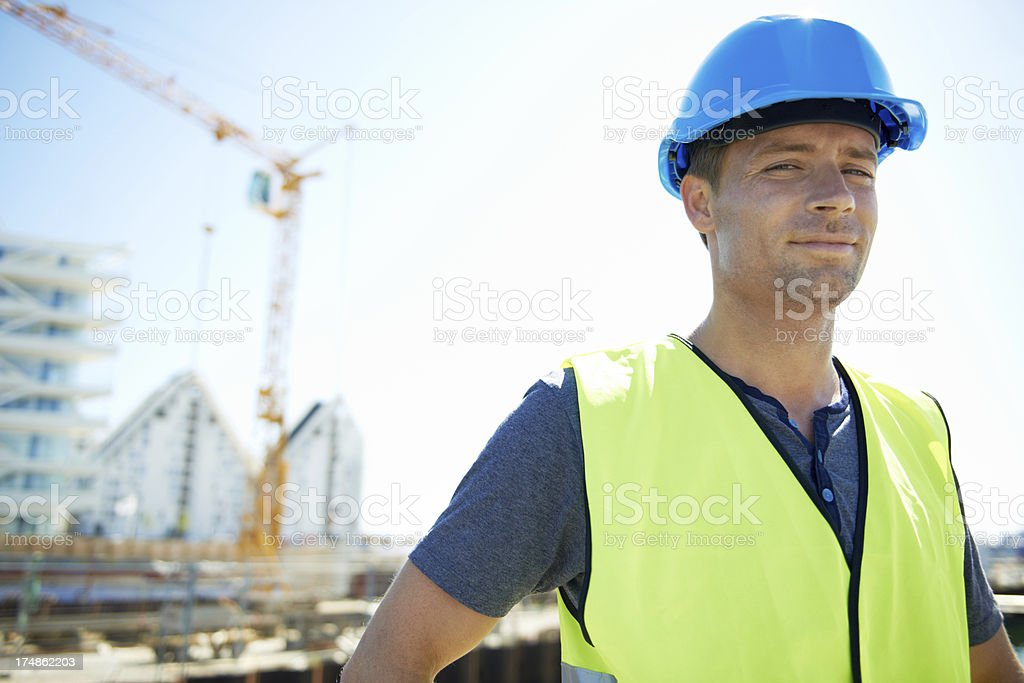 Building the future royalty-free stock photo