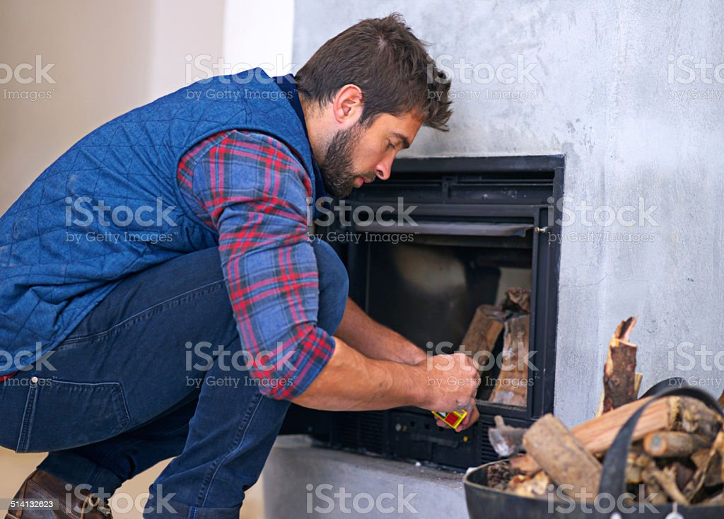 Building the perfect fire stock photo