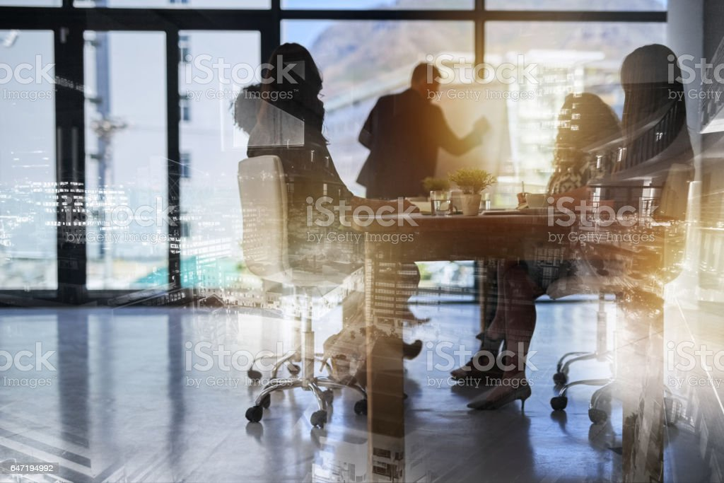 Building their empire from the ground up stock photo