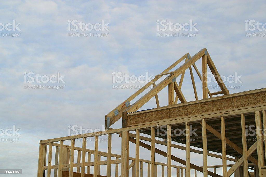 Building to the Sky, Carpentry, Lumber royalty-free stock photo