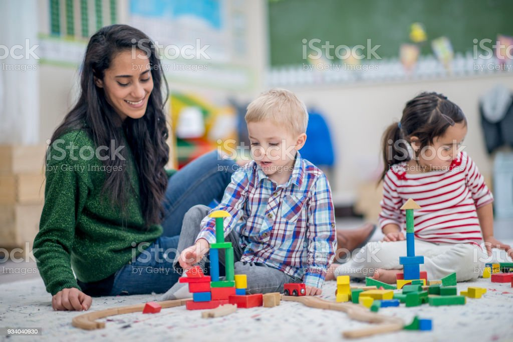 Building Together stock photo