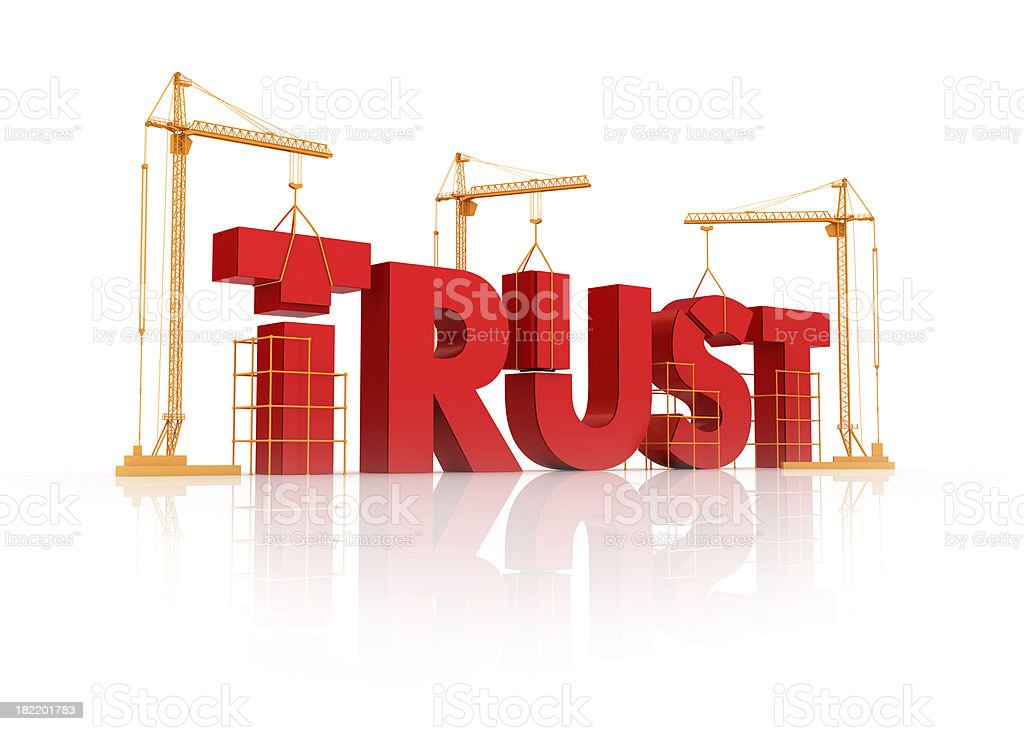 building trust relation stock photo