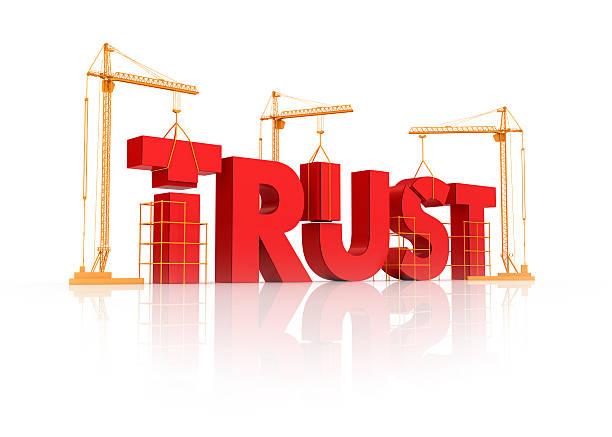 building trust relation stock photo