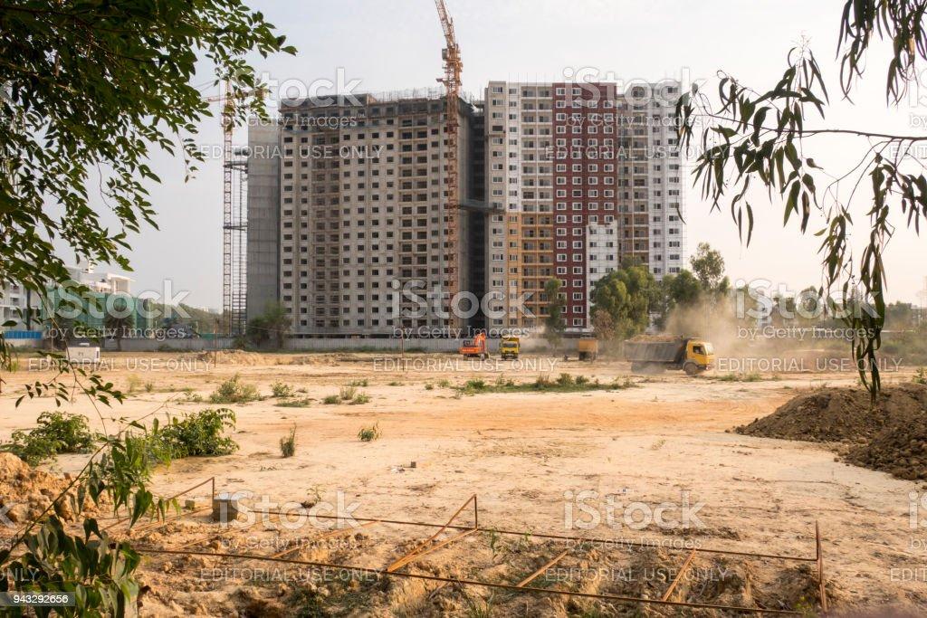 Building under construction, Bangalore, India stock photo