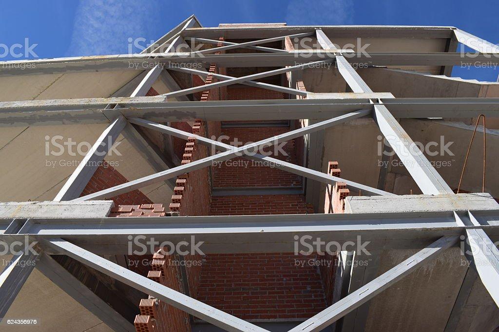 Building under construction. stock photo