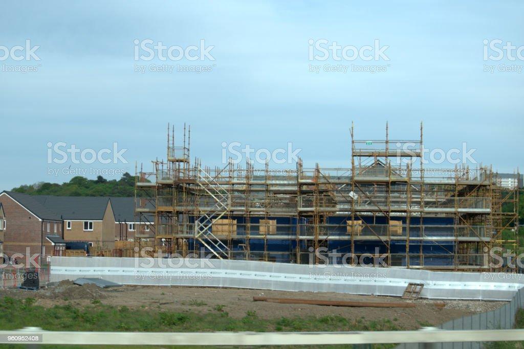 Gebäude im Bau - Lizenzfrei Außenaufnahme von Gebäuden Stock-Foto