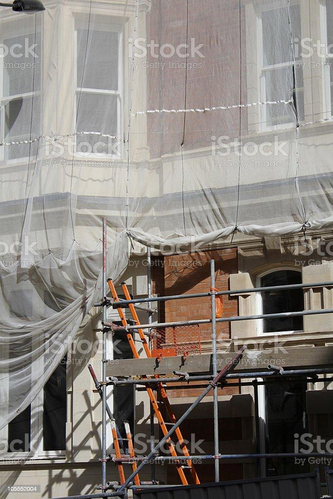 building under renovation royalty-free stock photo