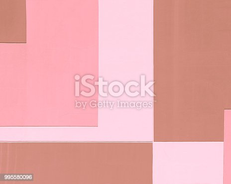 istock Building wall in pastel colors, geometric abstract background, rectangular shape. 995580096