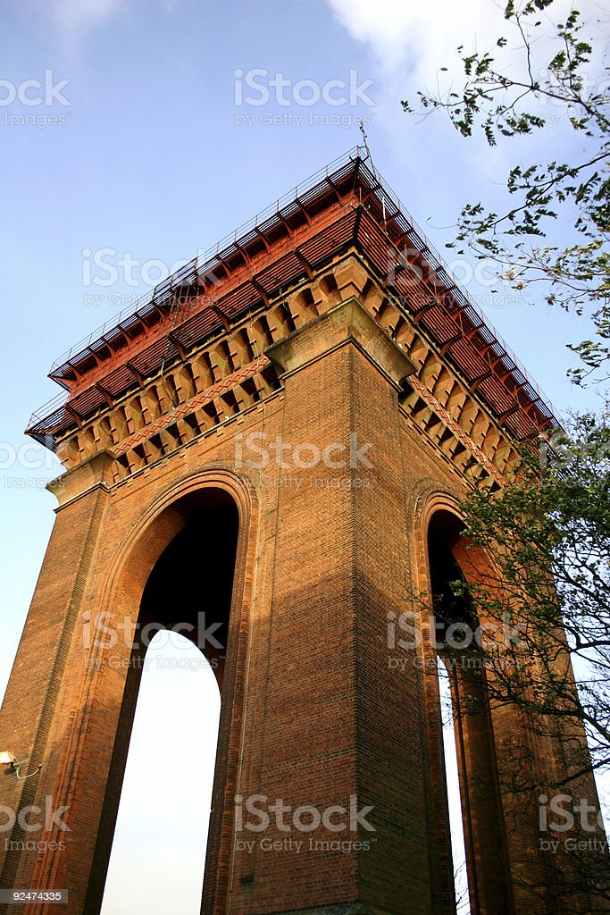 Building, water tower royalty-free stock photo