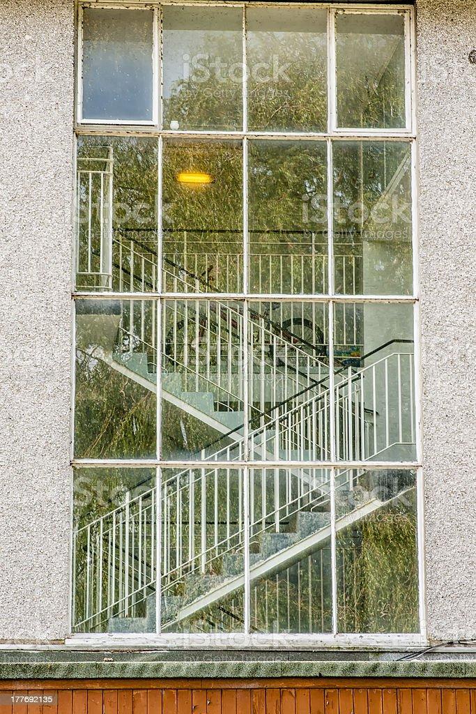 Building, Window, View, Interior, Stairway royalty-free stock photo