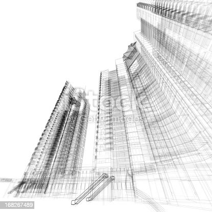 istock Building Wireframe 168267489