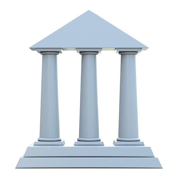 building with 3 columns - three objects stock pictures, royalty-free photos & images
