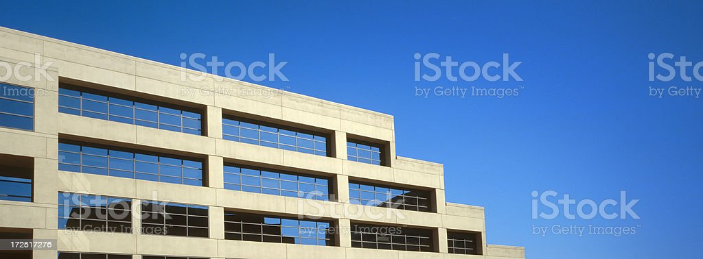 Building with a Stepping Corner royalty-free stock photo