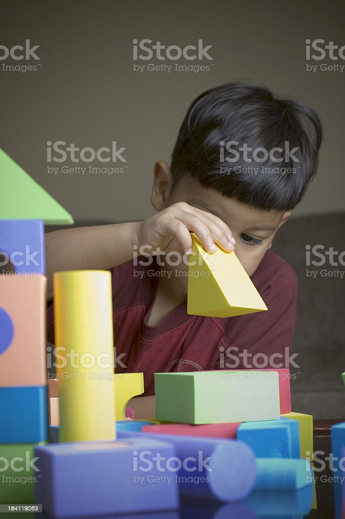 building with blocks royalty-free stock photo