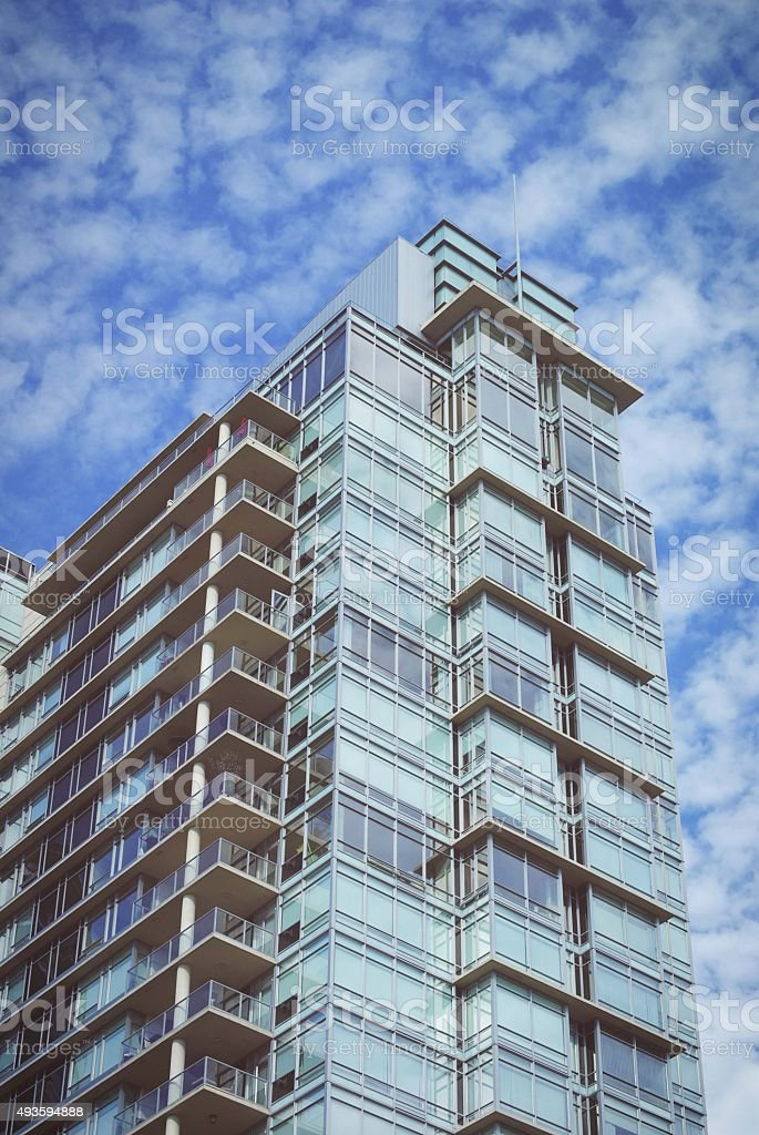 Building with Clouds stock photo