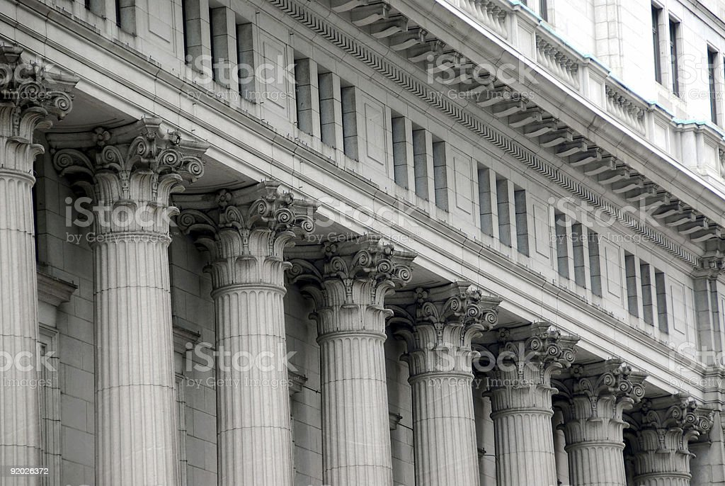 Building with columns stock photo