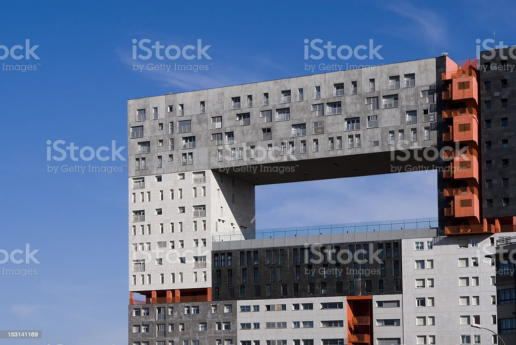 building with hollow stock photo