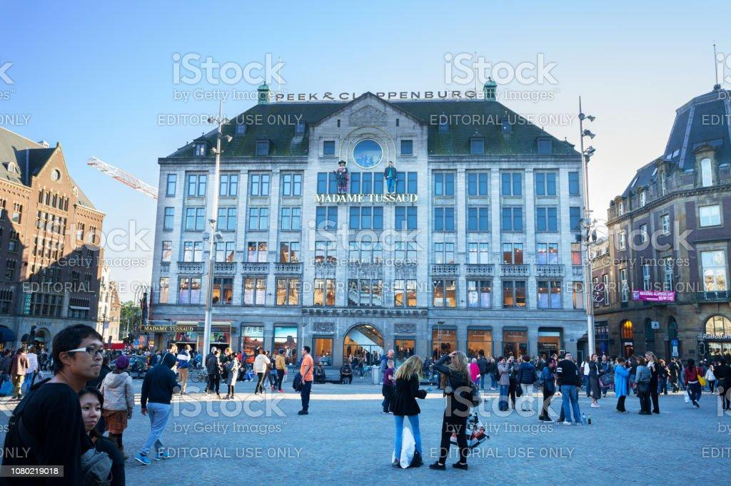 Gebäude mit Madame Tussauds Museum in Amsterdam – Foto