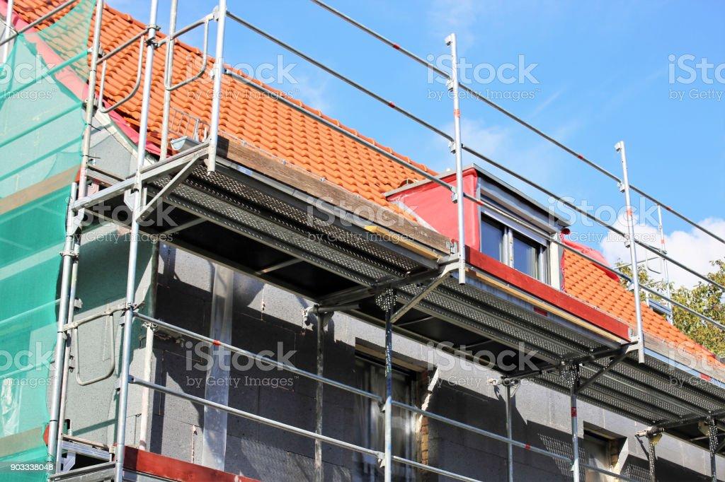 Gebäude mit professionellen Wärmedämmung – Foto
