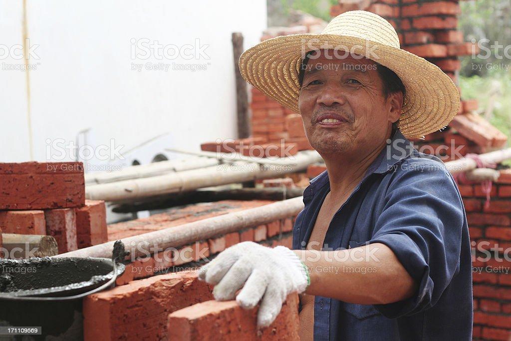 building worker stock photo