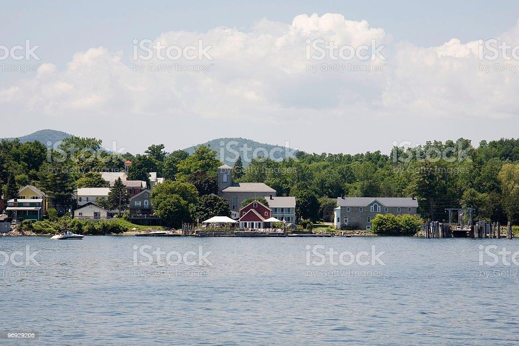 Buildings Along a Lake royalty-free stock photo