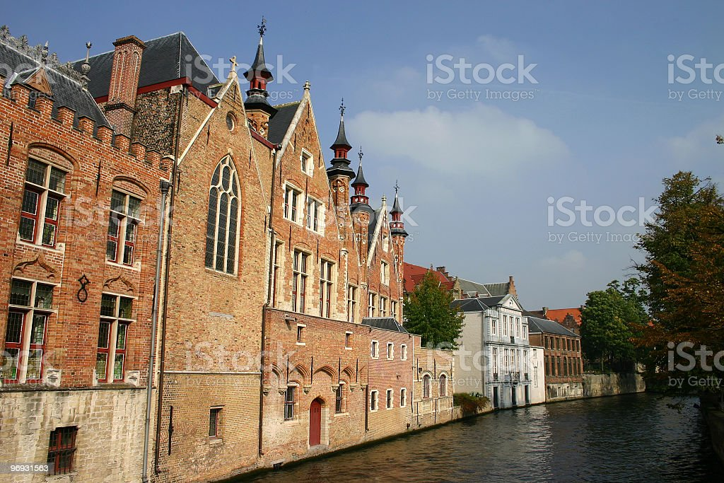 Buildings along canal royalty-free stock photo