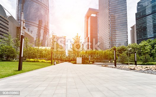istock Buildings and public park in Shanghai 908459860
