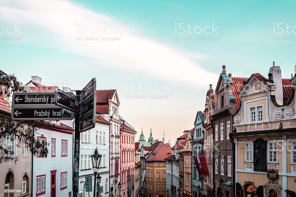 Buildings and Streets of Prague, Czech Republic foto royalty-free