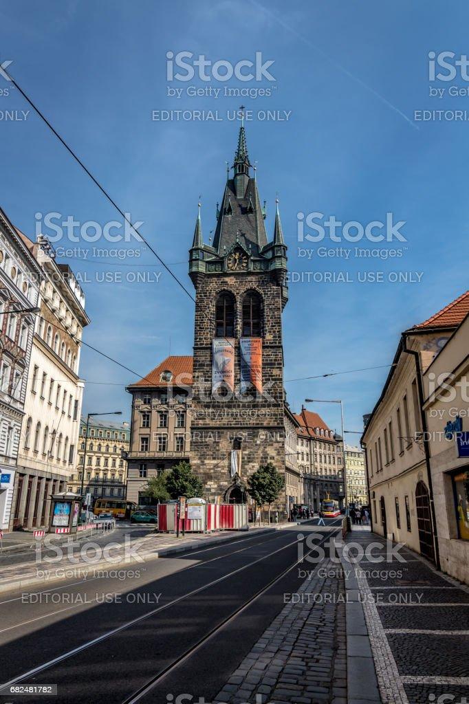 Gebäude und Straßen von Prag, Tschechische Republik Lizenzfreies stock-foto