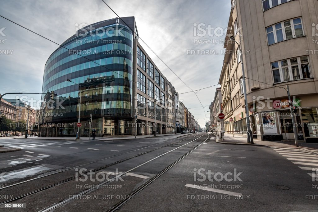 Buildings and Streets of Prague, Czech Republic royalty-free stock photo