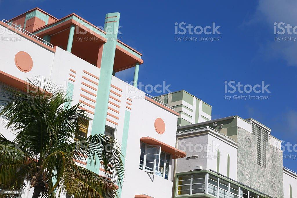 Buildings Art Deco in Miami Beach stock photo