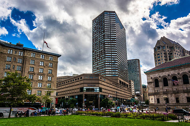 Buildings at Copley Square, in Boston, Massachusetts. stock photo