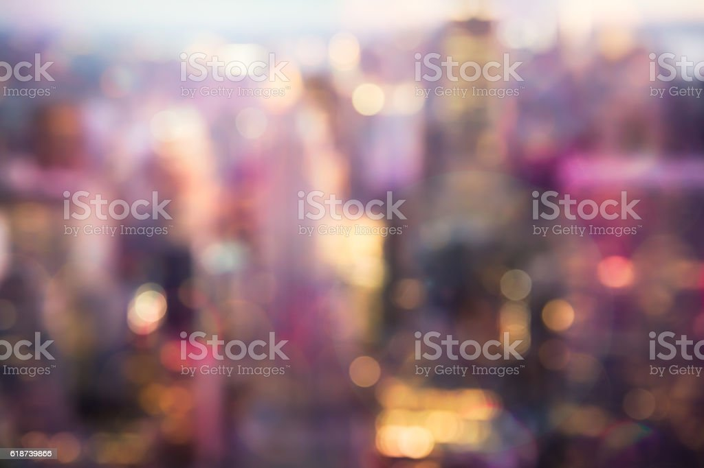 NYC buildings blur stock photo