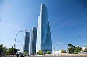 buildings business skyscrapers in Castellana street Madrid city