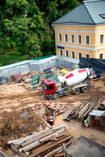 모스크바에서 건물 건설 현장 DIY에 대한 스톡 사진 및 기타 이미지
