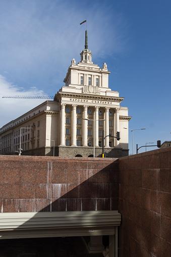 소피아 불가리아에 있는 건물 전 공산주의 파티 하우스 건물 외관에 대한 스톡 사진 및 기타 이미지