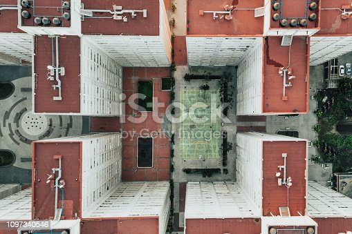 istock Buildings from above 1097340546