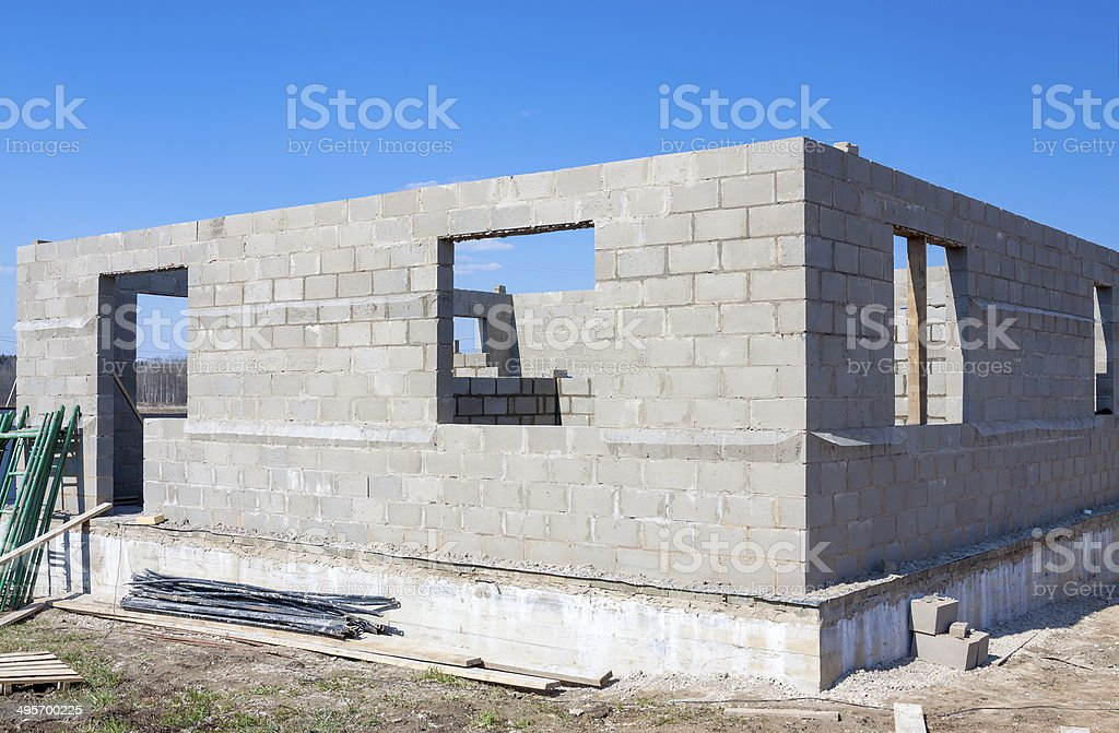buildings  home from bricks stock photo