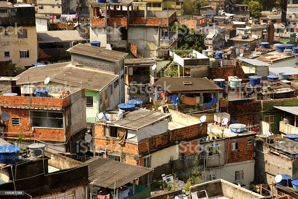 Buildings in a Brazilian favela royalty-free stock photo