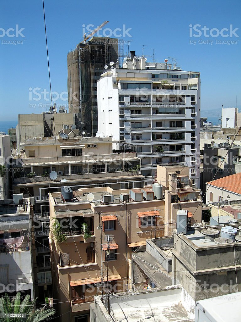 Buildings in Beirut stock photo