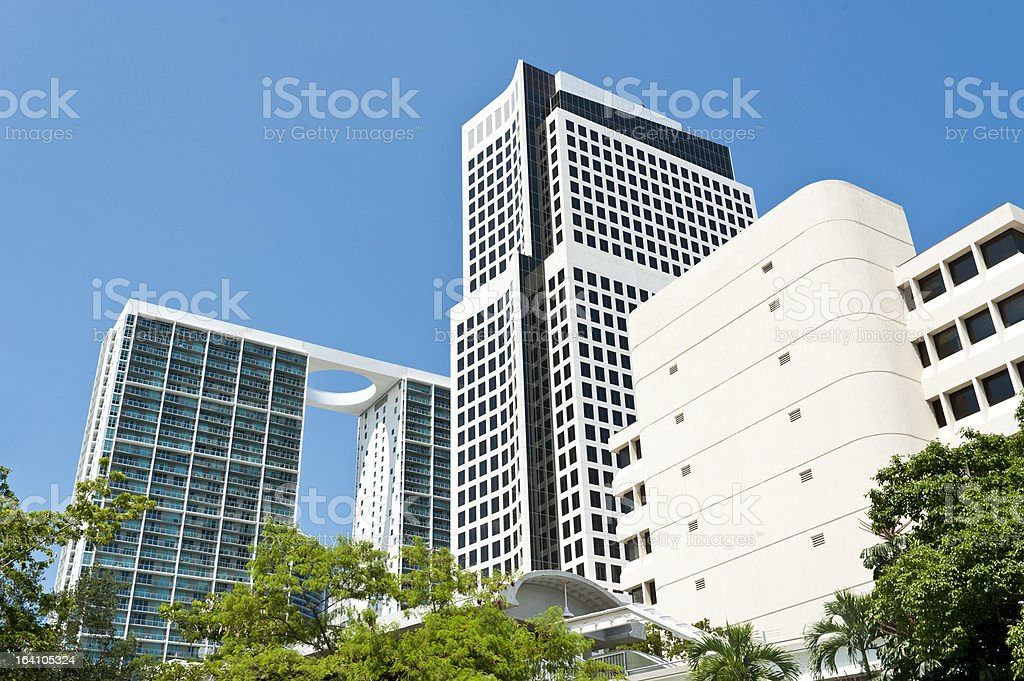 Buildings in Brickell Avenue royalty-free stock photo