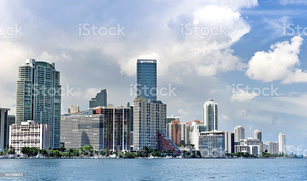 Buildings in Brickell District stock photo