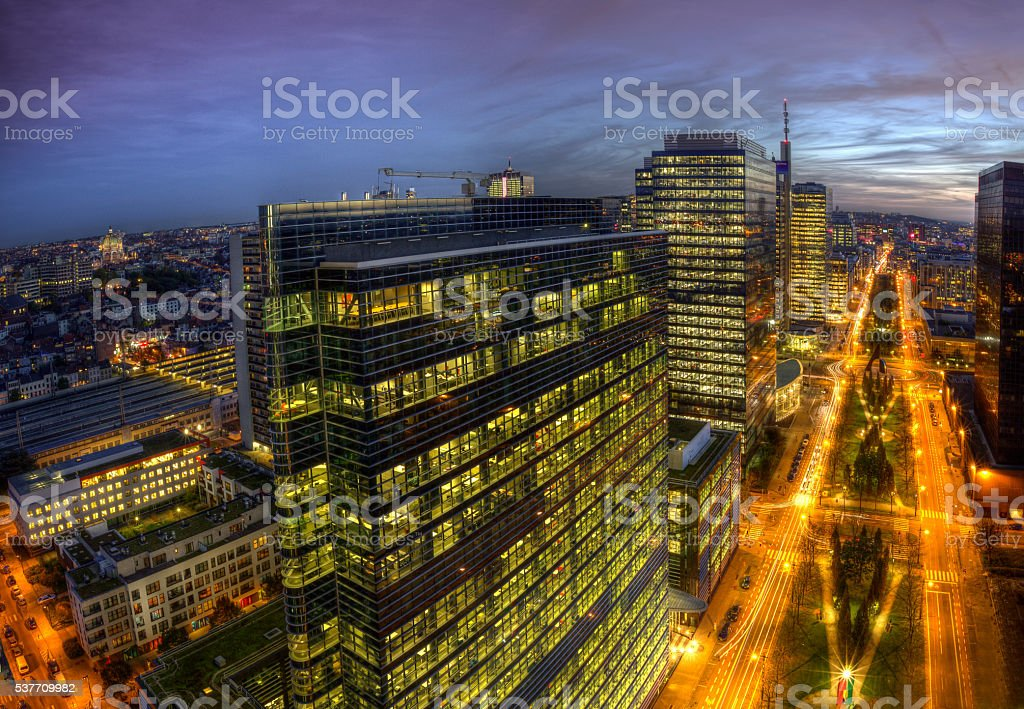 Buildings in Brussels stock photo