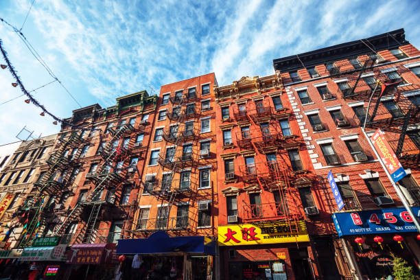Buildings in Chinatown - New York City stock photo