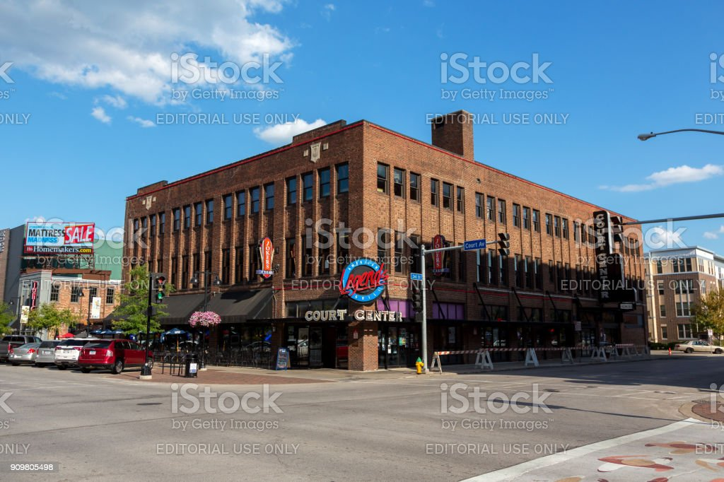 Buildings in downtown Des Moines, Iowa. stock photo