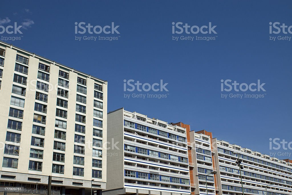 Buildings in East Berlin stock photo