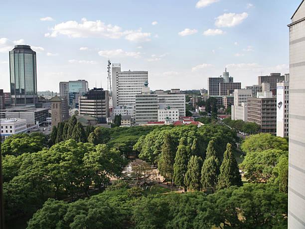 Gebäude in Harare, die Hauptstadt von Simbabwe – Foto