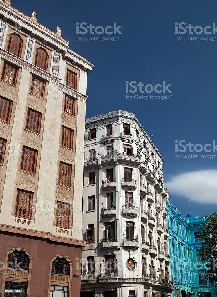 buildings in Havana, Cuba stock photo
