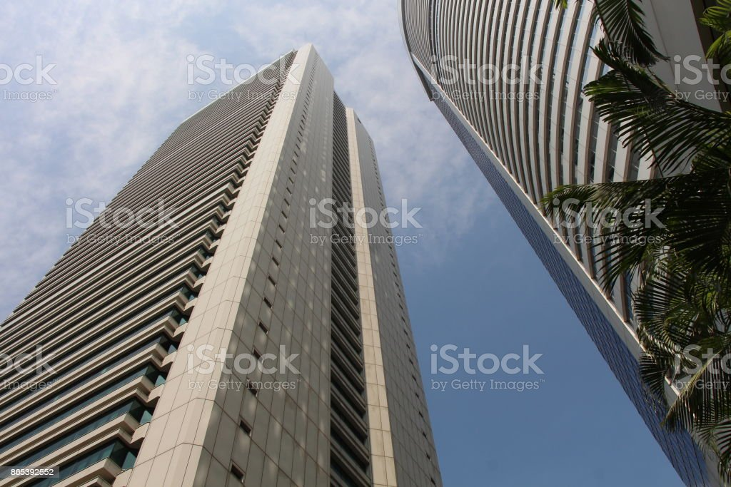 Buildings in Hong Kong's Central Business District - Admiralty stock photo