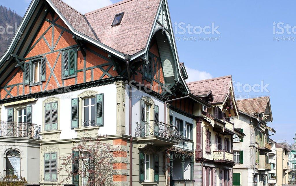 Buildings in Interlaken, Berne Canton, Switzerland royalty-free stock photo